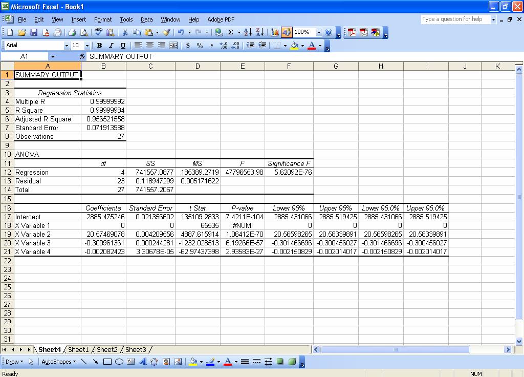 Printable Worksheets practice excel worksheets : Advanced Regression with Microsoft Excel   Chem Lab