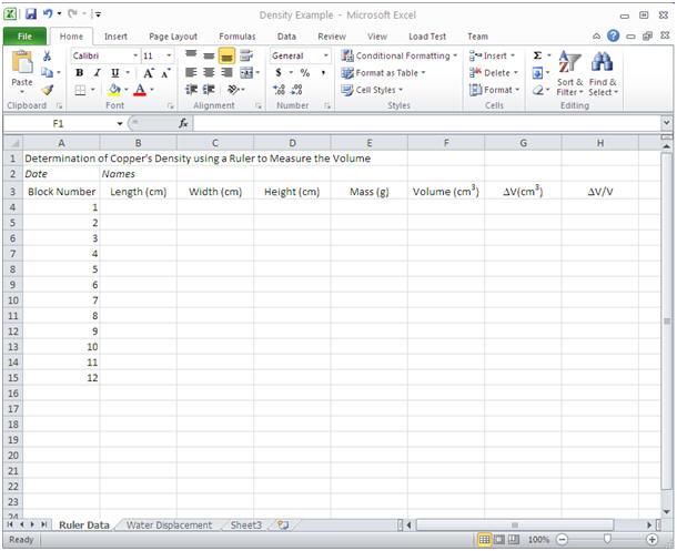 Figure 1. Worksheet ...